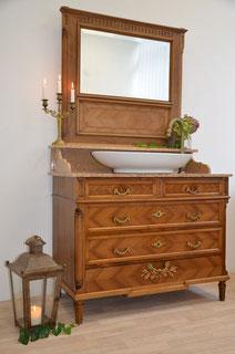 Waschtisch Antik mit Marmor und Spiegel