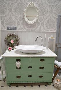 Badezimmer Waschtisch Vintage