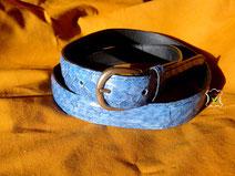 ceinture en cuir de carpes de dombes