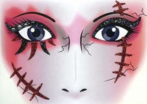Gezicht sticker Halloween Red Scar € 2,25