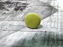 bague ronde verte en céramique raku