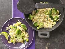 Geprüfte IN FORM-Rezepte, IN FORM, Blitzrezept, schnelles Rezept, einfaches Rezept, schnelle Zubereitung, schnell kochen, gesunde Ernährung, gesundes Essen, gesund essen, gesundes Rezept, orientalische Küche, Reispfanne, Reis, Brokkoli