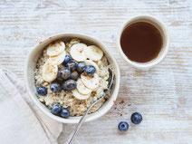 Geprüfte IN FORM-Rezepte, IN FORM, Blitzrezept, schnelles Rezept, einfaches Rezept, schnelle Zubereitung, schnell kochen, gesunde Ernährung, gesundes Essen, gesund essen, gesundes Rezept, Haferbrei, Porridge, Frühstück, Porridge-Rezept, gesundes Frühstück