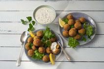 Geprüfte IN FORM-Rezepte, IN FORM, DGE, vegetarisch, vegetarisch kochen, vegetarisch essen, vegetarisches Essen, vegetarisches Rezept, vegetarische Küche, gesunde Ernährung, Ernährung, Gesundheit, Falafel, Falafel-Rezept, selbstgemachte Falafel