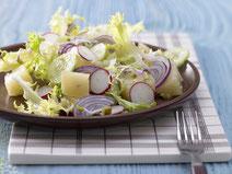 Geprüfte IN FORM-Rezepte, IN FORM, gesunde Rezepte, gesunde Ernährung, gesundes Essen, gesund essen, gesund abnehmen, abnehmen, gesund kochen, DGE, Deutsche Gesellschaft für Ernährung, Rezept, Kochrezept, kochen, Radieschen, Harzer Käse, Käse, Salat