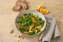 Geprüfte IN FORM-Rezepte, IN FORM, Blitzrezept, schnelles Rezept, einfaches Rezept, schnelle Zubereitung, schnell kochen, gesunde Ernährung, gesundes Essen, gesund essen, gesundes Rezept, Feldsalat, Orangen, Salat, Salatrezept