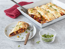 Geprüfte IN FORM-Rezepte, IN FORM, DGE, vegetarisch, vegetarisch kochen, vegetarisch essen, vegetarisches Essen, vegetarisches Rezept, vegetarische Küche, gesunde Ernährung, Ernährung, Gesundheit, vegetarische Enchiladas, mexikanisch kochen, mexikanisch