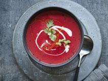 Geprüfte IN FORM-Rezepte, IN FORM, DGE, vegetarisch, vegetarisch kochen, vegetarisch essen, vegetarisches Essen, vegetarisches Rezept, vegetarische Küche, gesunde Ernährung, Ernährung, Gesundheit, Rote Bete Suppe, Rote Bete, Suppe, Suppenrezept