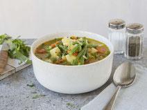 Geprüfte IN FORM-Rezepte, IN FORM, DGE, vegetarisch, vegetarisch kochen, vegetarisch essen, vegetarisches Essen, vegetarisches Rezept, vegetarische Küche, gesunde Ernährung, Ernährung, Gesundheit, Bohneneintopf, Bohnen, Eintopf, vegetarischer Eintopf