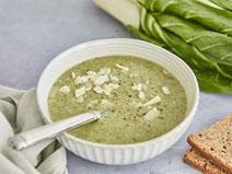 Mangoldsuppe, Mangold, Suppe, Suppenrezept, vegetarisch, vegetarische Suppe, vegetarische Vorspeise, vegetarische Ernährung, vegetarisches Essen, vegetarisch kochen, gesunde Ernährung, gesunde Rezepte, gesundes Essen, gesunde Vorspeise, Vorspeisen-Rezept