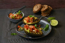 IN FORM, gesunde Rezepte, gesunde Ernährung, gesundes Essen, gesund essen, gesund abnehmen, gesund kochen, Deutsche Gesellschaft für Ernährung, Rezept, Kochrezept, kochen,  Avocado, grillen, Grillrezept, Grillrezepte, vegan grillen, vegane Grillrezepte