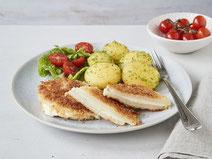 Geprüfte IN FORM-Rezepte, IN FORM, DGE, vegetarisch, vegetarisch kochen, vegetarisch essen, vegetarisches Essen, vegetarisches Rezept, vegetarische Küche, gesunde Ernährung, Ernährung, Gesundheit, vegetarisches Cordon bleu, Cordon bleu