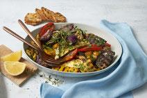 IN FORM, gesunde Rezepte, gesunde Ernährung, gesundes Essen, gesund essen, gesund abnehmen, gesund kochen, Deutsche Gesellschaft für Ernährung, Rezept, Kochrezept, kochen, vegetarisch grillen, Grillgemüse, Salat, Salatrezept, vegetarische Grillrezepte