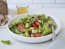 Geprüfte IN FORM-Rezepte, IN FORM, DGE, vegetarisch, vegetarisch kochen, vegetarisch essen, vegetarisches Essen, vegetarisches Rezept, vegetarische Küche, gesunde Ernährung, Ernährung, Gesundheit, Spargelsalat, Spargel, Salat, Avocado