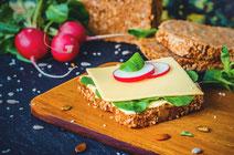 Geprüfte IN FORM-Rezepte, IN FORM, Blitzrezept, schnelles Rezept, einfaches Rezept, schnelle Zubereitung, schnell kochen, gesunde Ernährung, gesundes Essen, gesund essen, gesundes Rezept, Sandwich, Schinken, Käse, Radieschen, Frühstück, Abendbrot