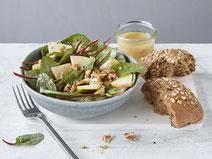 Geprüfte IN FORM-Rezepte, IN FORM, DGE, vegetarisch, vegetarisch kochen, vegetarisch essen, vegetarisches Essen, vegetarisches Rezept, vegetarische Küche, gesunde Ernährung, Ernährung, Gesundheit, Mangoldsalat, Mangold, Salat, Salatrezept