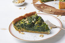 Spinat-Quiche vegan, vegane Spinat-Quiche, Spinat Quiche, vegane Quiche, Quiche mit Spinat, Gemüse, Quiche-Rezept, veganes Quiche-Rezept, Quiche zubereiten