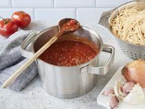 Geprüfte IN FORM-Rezepte, IN FORM, Blitzrezept, schnelles Rezept, einfaches Rezept, schnelle Zubereitung, schnell kochen, gesunde Ernährung, gesundes Essen, gesund essen, gesundes Rezept, vegane Tomatensauce, Tomatensauce, Pasta, Nudeln, Pastarezept