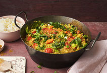Spinat-Curry, Spinat, Curry, veganes Curry, veganes Curry-Rezept, Curry-Rezept, Rezept mit Spinat, veganes Rezept, veganes Essen, vegane Ernährung, veganes Essen, gesunde Rezepte, gesundes Essen, gesunde Ernährung, Rezept, Kochrezept, Curry kochen