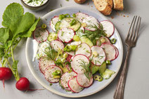 Gurken-Radieschen-Salat, Gurken, Radieschen, Salat, Salat-Rezept, vegetarisch, vegetarischer Salat, vegetarisches Salatrezept, Gurkensalat, Gurkensalat-Rezept, Rezept für Gurkensalat, vegetarisches Rezept, vegetarisch kochen, vegetarisches Essen