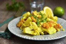 Geprüfte IN FORM-Rezepte, IN FORM, DGE, vegan, veganes Rezept, vegan kochen, vegane Ernährung, vegan essen, gesunde Ernährung, Ernährung, Gesundheit, Blumenkohl, Curry, Blumenkohl-Curry, veganes Curry, Curry-Rezept, veganes Curry-Rezept,