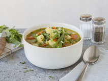 Geprüfte IN FORM-Rezepte, IN FORM, gesunde Rezepte, gesunde Ernährung, gesundes Essen, gesund essen, gesund abnehmen, abnehmen, gesund kochen, Deutsche Gesellschaft für Ernährung, Rezept, Bohnen, Eintopf, Bohneneintopf, vegetarisch, vegetarischer Eintopf