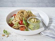 Geprüfte IN FORM-Rezepte, IN FORM, DGE, vegetarisch, vegetarisch kochen, vegetarisch essen, vegetarisches Essen, vegetarisches Rezept, vegetarische Küche, gesunde Ernährung, Ernährung, Gesundheit, Avocadopesto, Avocado, Pesto, Pesto-Rezept