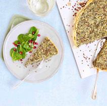 Geprüfte IN FORM-Rezepte, IN FORM, DGE, vegetarisch, vegetarisch kochen, vegetarisch essen, vegetarisches Essen, vegetarisches Rezept, vegetarische Küche, gesunde Ernährung, Ernährung, Gesundheit, Grünkohlquiche, Grünkohl, Quiche
