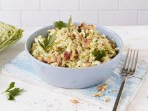 Geprüfte IN FORM-Rezepte, IN FORM, DGE, vegetarisch, vegetarisch kochen, vegetarisch essen, vegetarisches Essen, vegetarisches Rezept, vegetarische Küche, gesunde Ernährung, Ernährung, Gesundheit, Spitzkohlsalat, Spitzkohl, Salat, Salatrezept, Äpfel