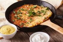 Geprüfte IN FORM-Rezepte, IN FORM, DGE, vegetarisch, vegetarisch kochen, vegetarisch essen, vegetarisches Essen, vegetarisches Rezept, vegetarische Küche, gesunde Ernährung, Ernährung, Gesundheit, Kartoffel-Petersilienwurzel-Küchlein, Kartoffel-Rezept