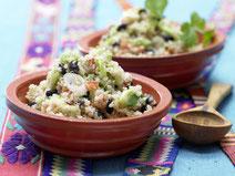 Geprüfte IN FORM-Rezepte, IN FORM, DGE, vegan, veganes Rezept, vegan kochen, vegane Ernährung, vegan essen, gesunde Ernährung, Ernährung, Gesundheit, Quinoa-Sellerie-Pfanne, vegane Gemüsepfanne, Quinoa, Sellerie, veganes Mittagessen, veganes Abendessen