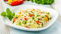 Geprüfte IN FORM-Rezepte, IN FORM, DGE, vegetarisch, vegetarisch kochen, vegetarisch essen, vegetarisches Essen, vegetarisches Rezept, vegetarische Küche, gesunde Ernährung, Ernährung, Gesundheit, Gemüse, Couscoussalat, Couscous, Salat, Salatrezept