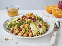 Geprüfte IN FORM-Rezepte, IN FORM, DGE, vegan, veganes Rezept, vegan kochen, vegane Ernährung, vegan essen, gesunde Ernährung, Ernährung, Gesundheit, veganer Quinoa-Salat, Quinoa-Salat, Quinoa, Salat, veganer Salat, veganes Salatrezept, Salatrezept