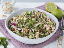Geprüfte IN FORM-Rezepte, IN FORM, DGE, vegetarisch, vegetarisch kochen, vegetarisch essen, vegetarisches Essen, vegetarisches Rezept, vegetarische Küche, gesunde Ernährung, Ernährung, Gesundheit, Reissalat, Reis, Salat, vegetarischer Salat, Salatrezept