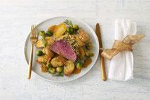 Geprüfte IN FORM-Rezepte, IN FORM, gesunde Rezepte, gesunde Ernährung, gesundes Essen, gesund essen, gesund abnehmen, abnehmen, gesund kochen, DGE, Deutsche Gesellschaft für Ernährung, Rezept, Kochrezept, kochen, Rinderfilet, Rind, Fleisch, Rindfleisch
