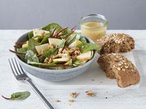 Geprüfte IN FORM-Rezepte, IN FORM, Blitzrezept, schnelles Rezept, einfaches Rezept, schnelle Zubereitung, schnell kochen, gesunde Ernährung, gesundes Essen, gesund essen, gesundes Rezept, Mangoldsalat, Mangold, Salat, Salatrezept, gesundes Mittagessen
