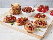 Geprüfte IN FORM-Rezepte, IN FORM, Blitzrezept, schnelles Rezept, einfaches Rezept, schnelle Zubereitung, schnell kochen, gesunde Ernährung, gesundes Essen, gesund essen, gesundes Rezept, Bruschetta, Vorspeise, Snack, mediterran, italienische Küche