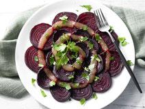 Geprüfte IN FORM-Rezepte, IN FORM, DGE, vegan, veganes Rezept, vegan kochen, vegane Ernährung, vegan essen, gesunde Ernährung, Ernährung, Gesundheit, Rote Bete, Apfel, Karamell, vegane Vorspeise