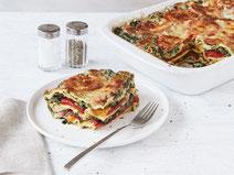 Geprüfte IN FORM-Rezepte, IN FORM, DGE, vegetarisch, vegetarisch kochen, vegetarisch essen, vegetarisches Essen, vegetarisches Rezept, vegetarische Küche, gesunde Ernährung, Ernährung, Gesundheit, Spinat-Lasagne, vegetarische Lasagne, Spinat, Lasagne