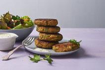 Grünkernbratlinge, Grünkern, Bratlinge, vegetarische Bratlinge, Gemüsebratlinge, Bratlinge-Rezept, Rezept für vegetarische Bratlinge, Rezept für Bratlinge, vegetarisches Rezept, vegetarisches Essen, vegetarisch kochen, vegetarisch essen, gesundes Rezept