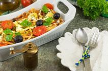 Geprüfte IN FORM-Rezepte, IN FORM, DGE, vegetarisch, vegetarisch kochen, vegetarisch essen, vegetarisches Essen, vegetarisches Rezept, vegetarische Küche, gesunde Ernährung, Ernährung, Gesundheit, Nudelauflauf, vegetarischer Nudelauflauf, Auflauf, Pasta