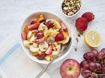 Geprüfte IN FORM-Rezepte, IN FORM, Blitzrezept, schnelles Rezept, einfaches Rezept, schnelle Zubereitung, schnell kochen, gesunde Ernährung, gesundes Essen, gesund essen, gesundes Rezept, Obstsalat, Obst, Früchte, Salat