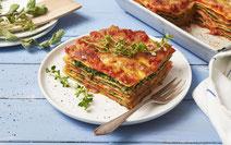 Gemüselasagne mit Spinat, Gemüselasagne, Spinat, Spinat-Lasagne, vegetarische Lasagne, Rezept für vegetarische Lasagne, Rezept mit Spinat, Rezept für Gemüselasagne, Lasagne, vegetarisches Rezept, gesundes Essen