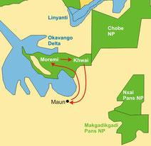 Luxuriöse Botswana Safaris - Okavango Delta