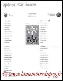Feuille de match  PSG-AS Roma  2017-18