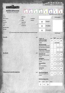 DSA 5 Heldenbogen Rechnung download