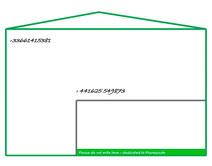 Phoneposte envelope –at the upper left corner, the phone number of the sender –at the center, the addressee's one. Haut gauche, numéro de tél. de l'expéditeur ; Centre, celui du destinataire.