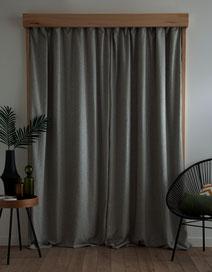 Système rideau opaque, en bois d'érable syccomore.CCL ébéniste