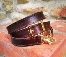 tracolla per borsa in cuoio marrone