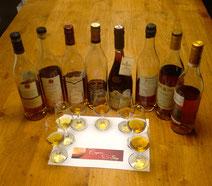 Cognacflessen en cognacglazen proeverij - Tasting